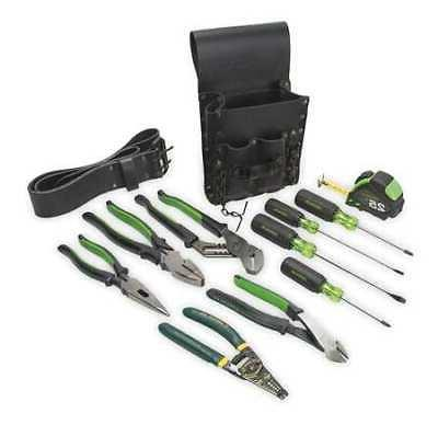 GREENLEE 0159-13 Electricians Tool Set, 12-Piece