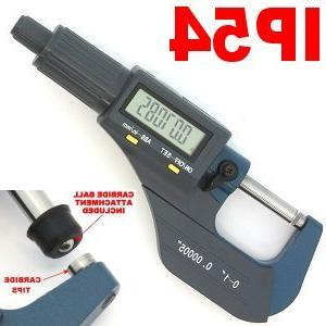 "Digital Electronic 6/"" Mirometer and 0-1/"" Caliper Machinist Set Measurement Kit"
