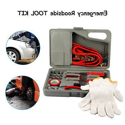 31 Pieces Emergency Car Tool Kit Jumper Drivers Cables Gloves
