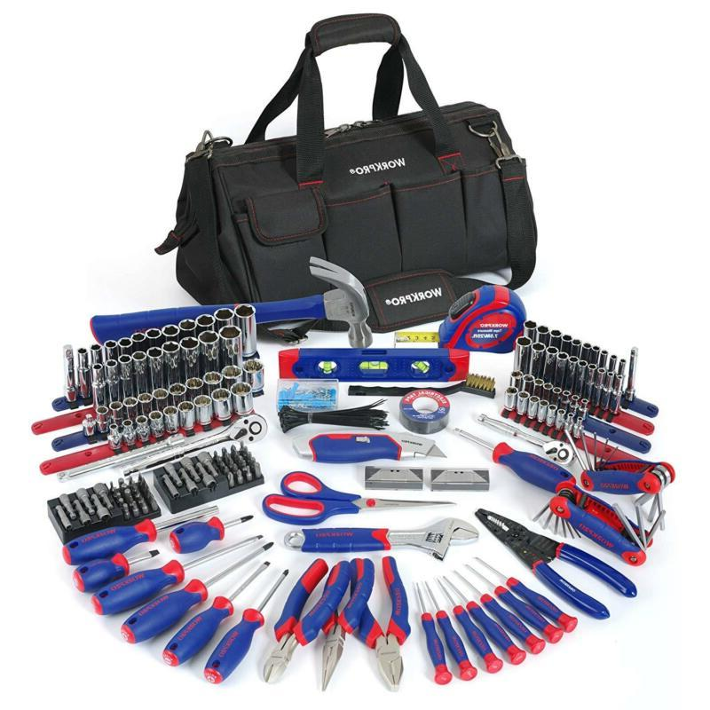 Home Repair Hand Tool Kit Basic Household Tool Set with Carr