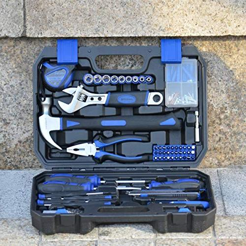Prostormer 120-Piece Home Repair Tool Household Tool Case for Office, Dorm and