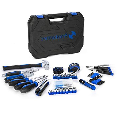 Prostormer Repair Tool Set - Basic Household Tool Kit Tool Box Storage for Office, and Apartment