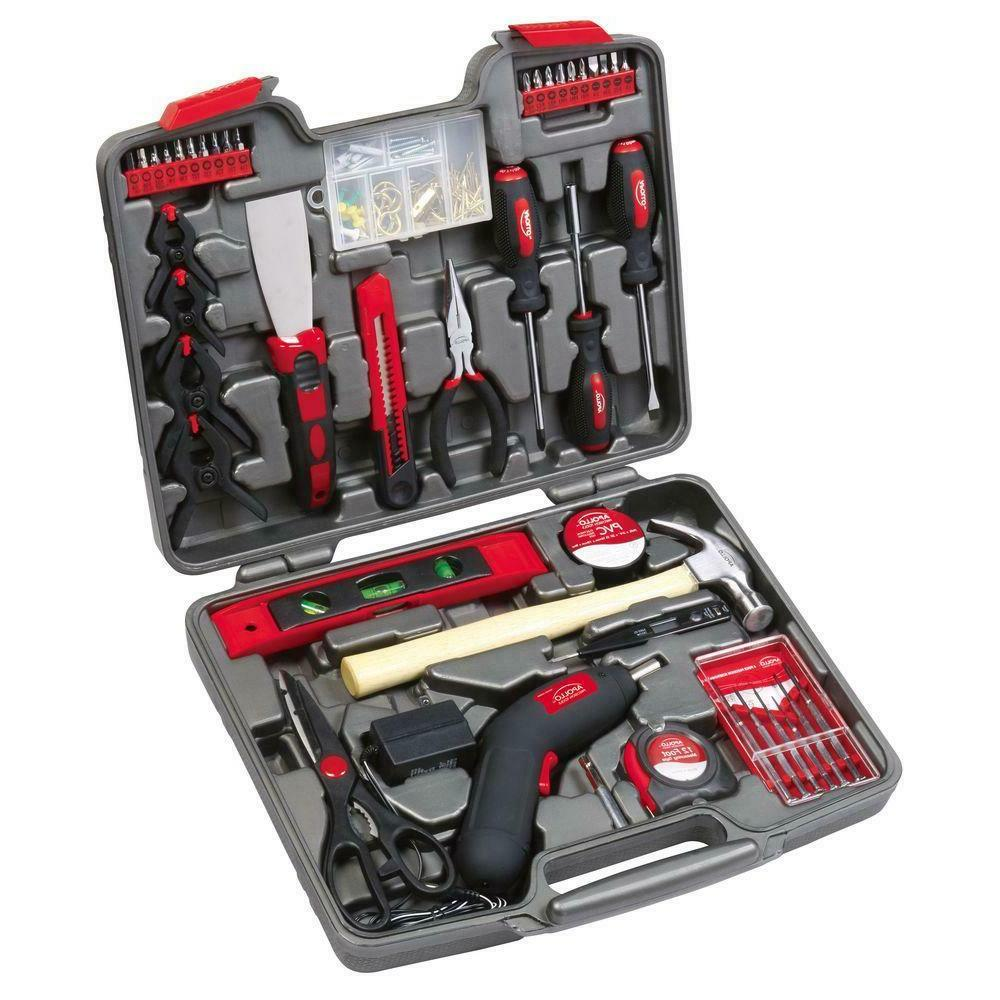 144 Piece Household Tool Kit Home Garage General Hand Tools