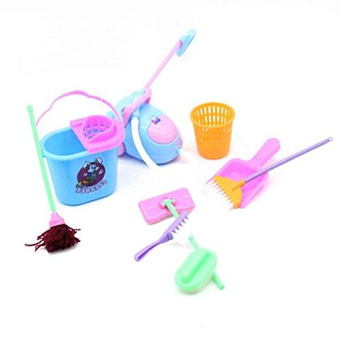 household girl dolls toys cleaning