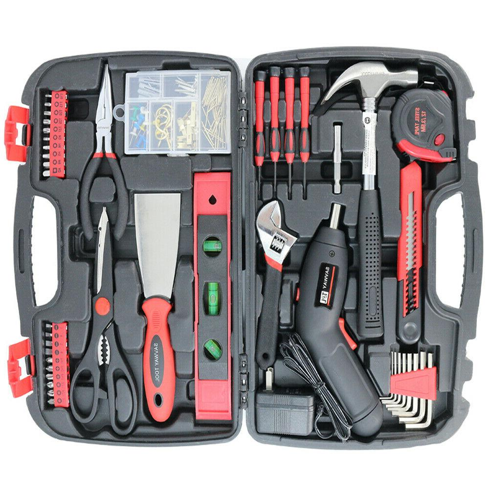 SAVWAY 143 PCS Household Tools Set Home Repair Tool Kit Cord