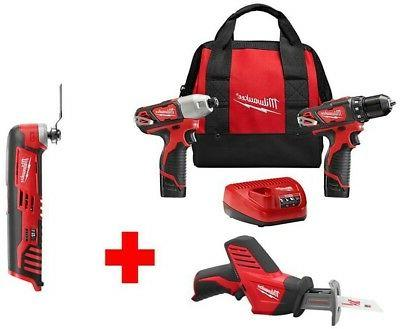 Milwaukee M12 12-Volt Lithium-Ion Cordless Combo Kit  With F