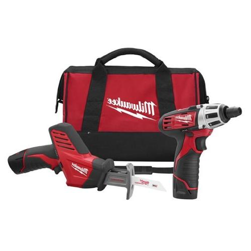 Milwaukee Electric Tool MLW2490-22 M12 12V 2 Tool Combo Kit