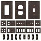 Oil Rubbed Bronze Wall Switch Plate Outlet Covers Ornate Flo