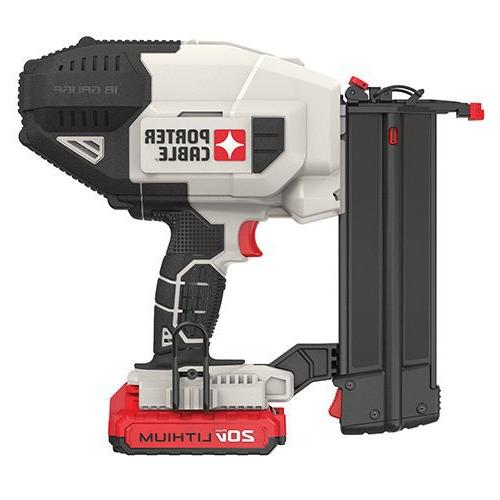 PORTER-CABLE PCC790LA 20V Lithium Nailer Includes Battery and Charger