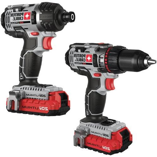 Porter-Cable PCCK602L2 MAX Cordless Lithium-Ion 2-Tool Kit
