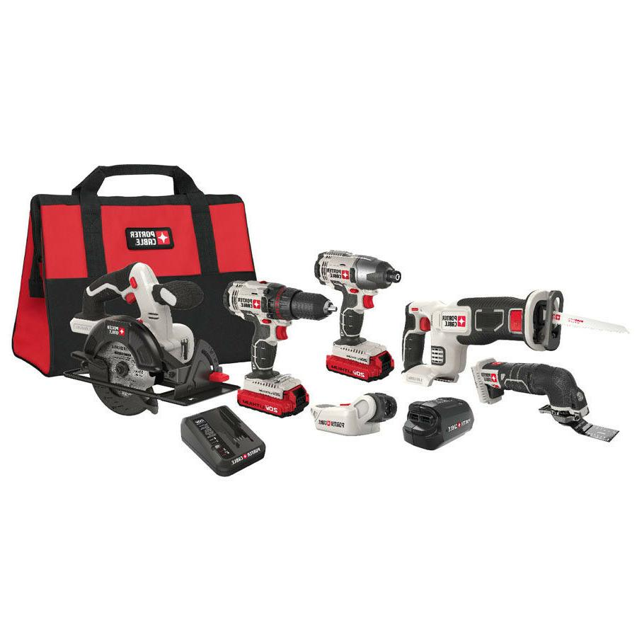 PORTER-CABLE 6-Tool 20-volt Max Lithium Ion Cordless Combo K