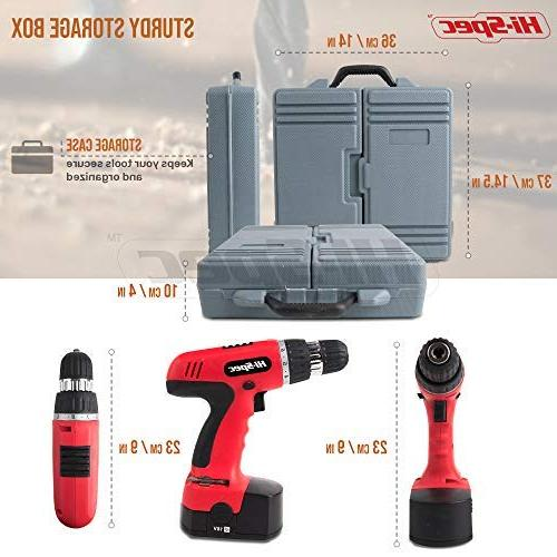 Hi-Spec 800mAh Cordless Driver with Piece Drill Screwdriver Sockets and for DIY, Professional Case