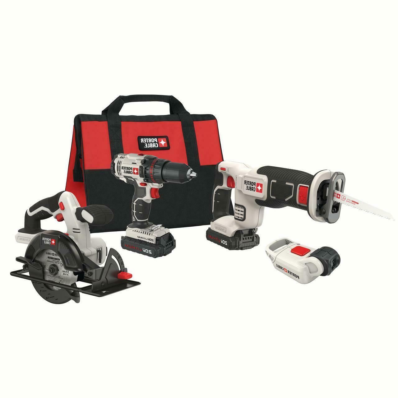Power Tools Combo Kit Drill Set Electric Hand Saw Small 20V