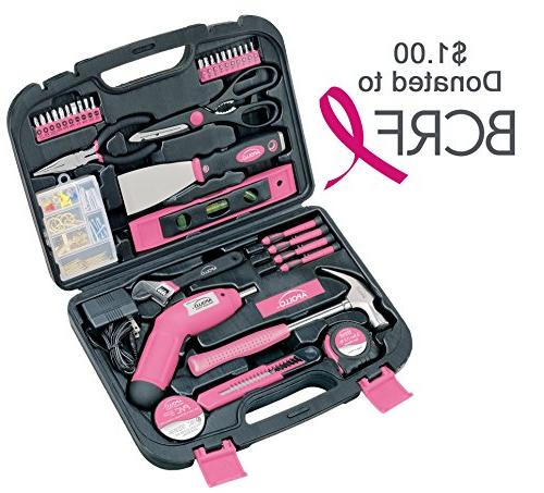 Apollo Piece Kit with 4.8 Volt Cordless and Most Useful and DIY Pink