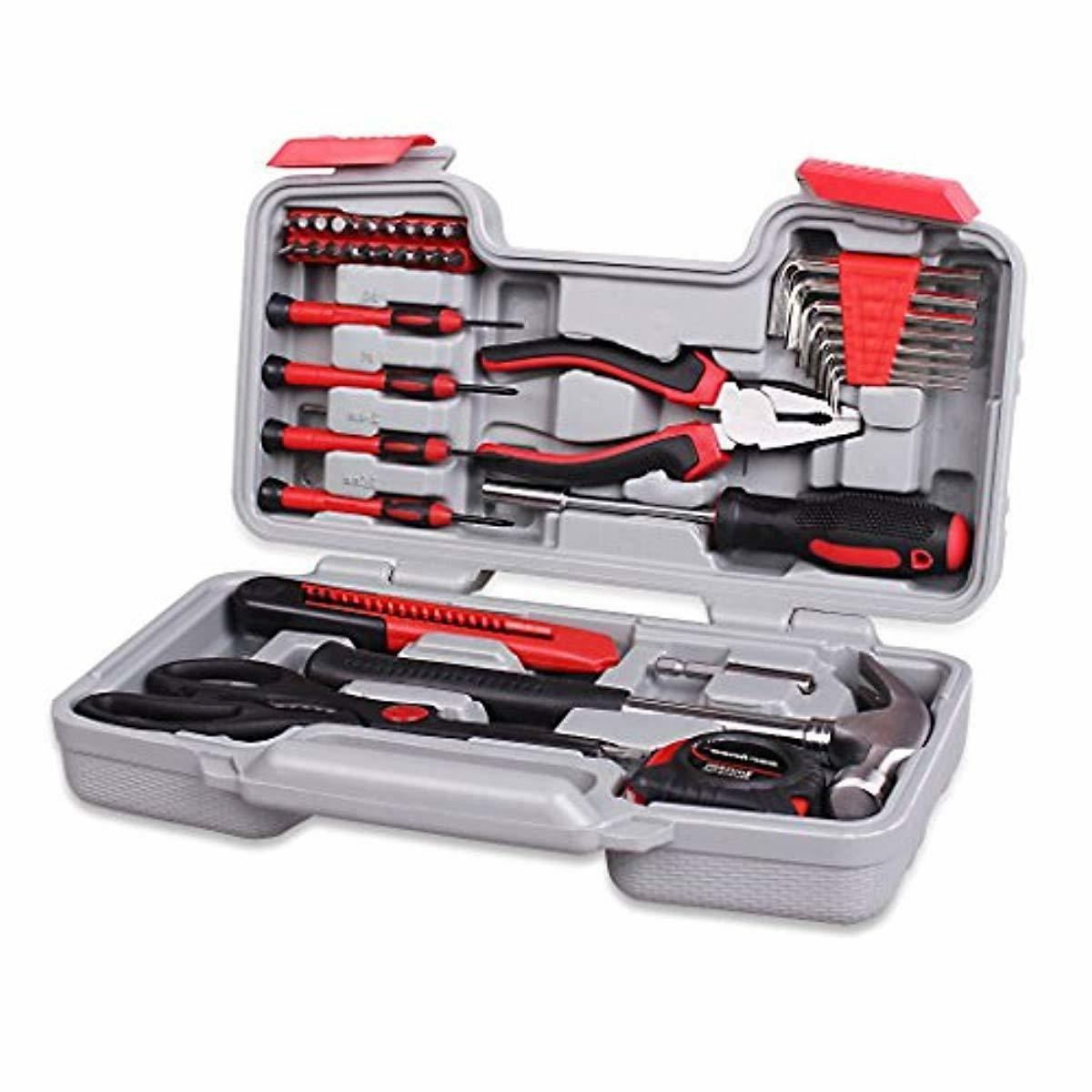CARTMAN Red Plier Tool - General Household Hand Tool Kit
