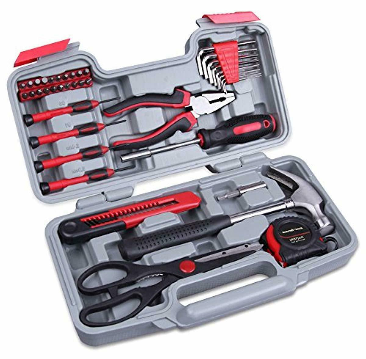 red 39 piece cutting plier tool set