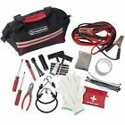 Red 55 Piece Roadside Emergency Auto and Tool Kit Jumper Cab