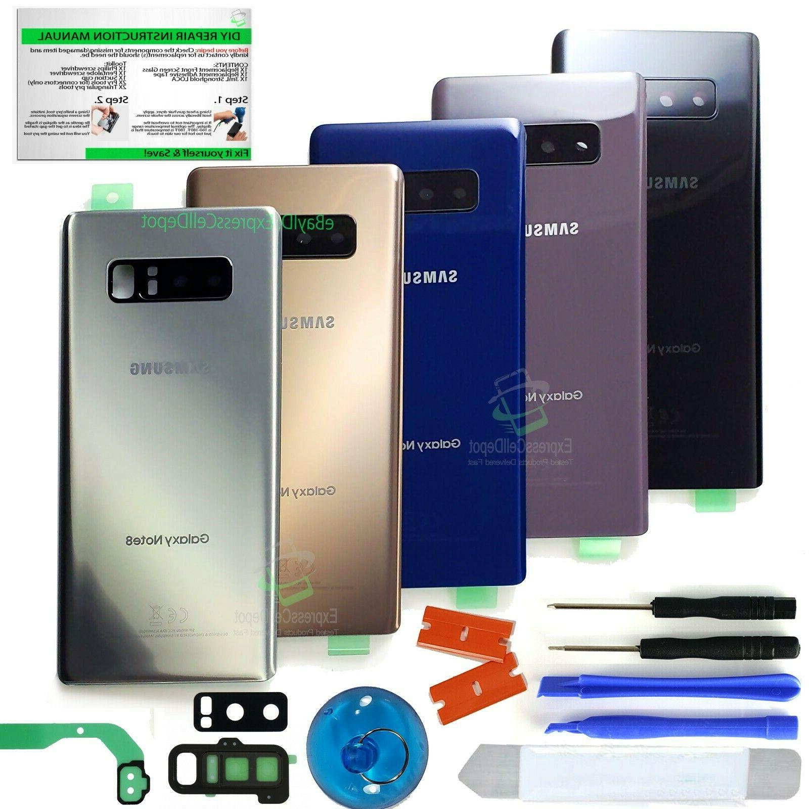 Samsung Galaxy Note 8 Back Glass Replacement Kit w Tool+Lens