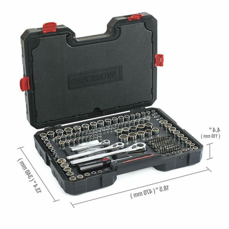 WORKPRO Socket Mechanics Tool Hard Case