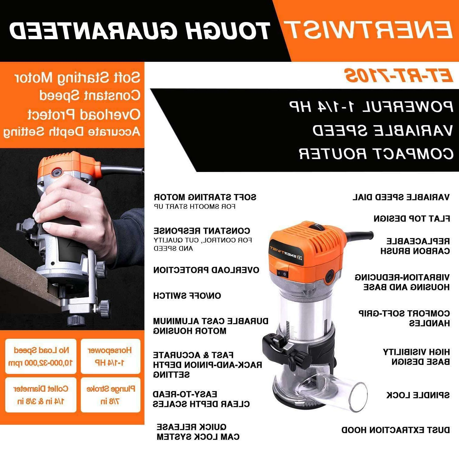 Compact Router Tool Soft Start with