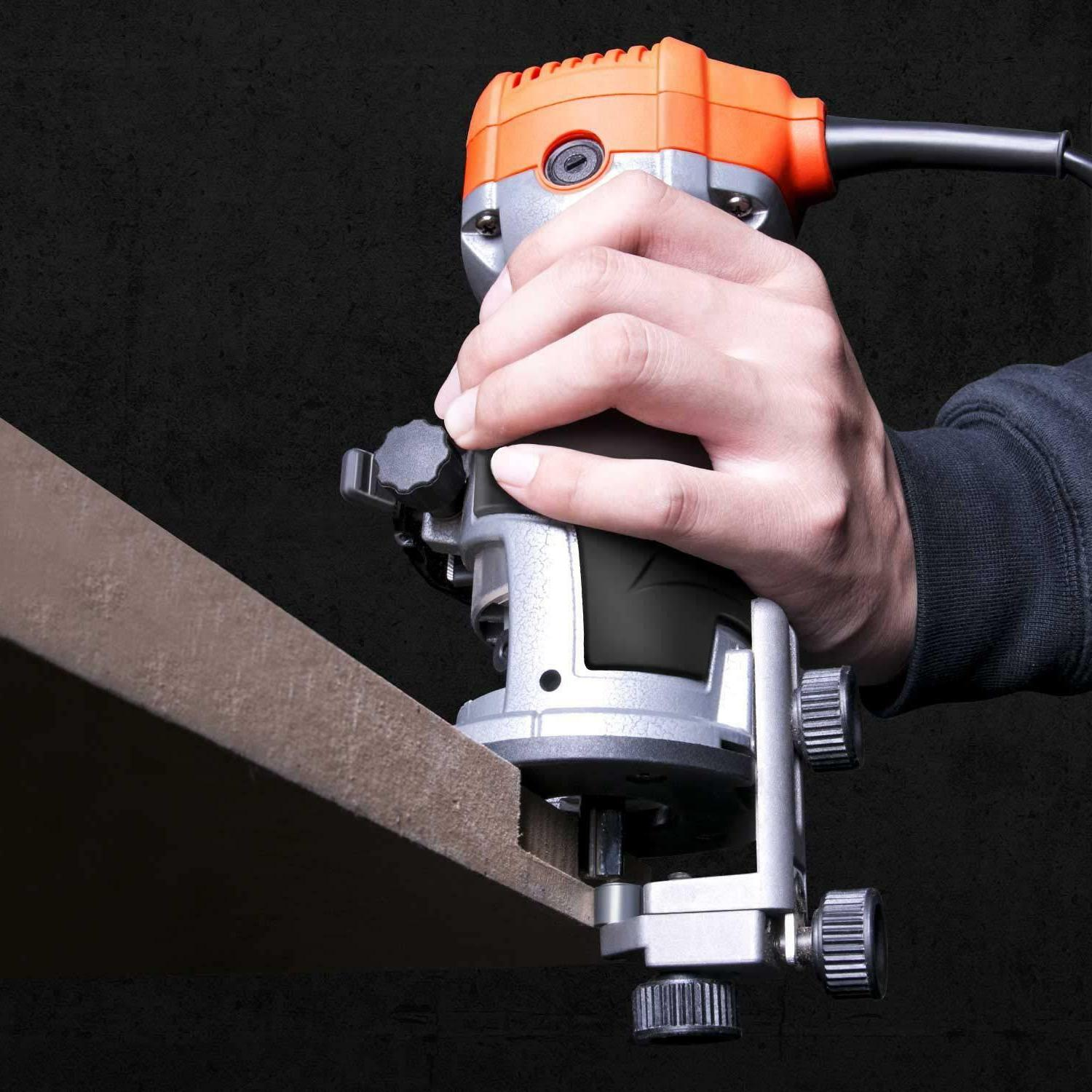 Compact Router Tool Soft with Base, Edge Guide,
