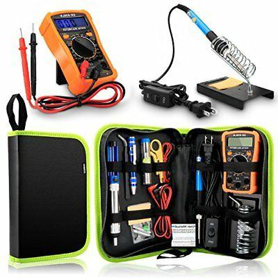 Anbes Soldering Iron Kit 60W Adjustable Temp Welding Tool Di