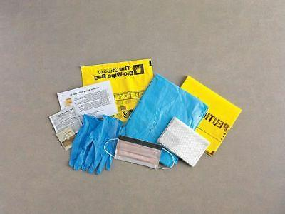 Spill Kit,Clear Ziplock Bag ZORO SELECT KIT-CW