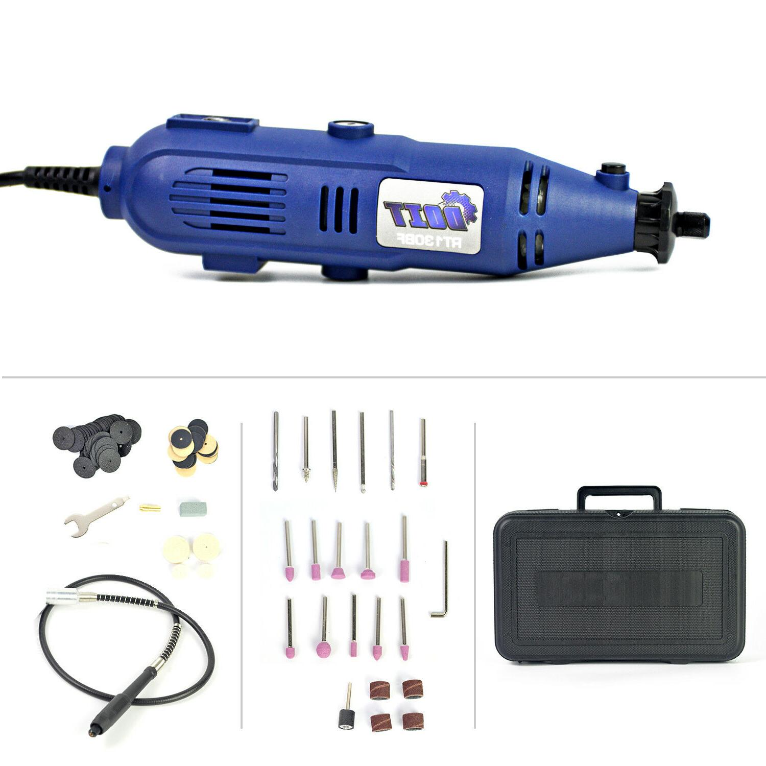 Variable Speed Rotary Tool Kit Grinder w/ Case 110 Pieces Ac