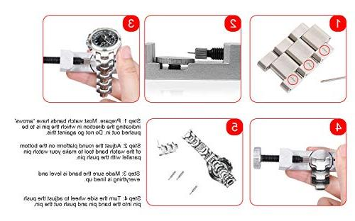 Selizo kit Watch Band with for Pin Removal and Watch Sizing