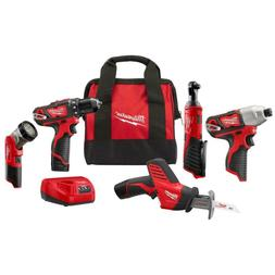 M12 12-Volt Lithium-Ion Cordless Combo Kit  with Two1.5Ah Ba