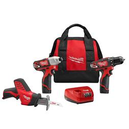 M12 12-Volt Lithium-Ion Cordless Combo Kit  With Free M12 3/