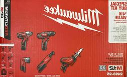 Milwaukee 2498-25 M12 12-Volt Lithium-Ion Cordless Combo Kit