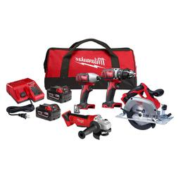 M18 18-Volt Lithium-Ion Cordless Combo Tool Kit  with Two 3.