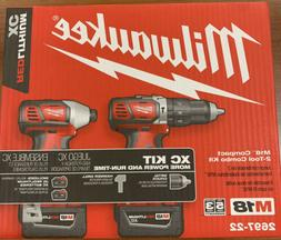 Milwaukee M18 Compact 2-Tool Combo Kit Hammer Drill And Impa