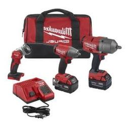 Milwaukee M18 Fuel 3Pc Impact Wrench Auto Kit 2996-23 New