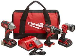 Milwaukee 2691-23 M18 18-Volt Lithium-Ion Cordless Compact D