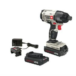 Porter-Cable 20V MAX 1.3 Ah Li-Ion 1/4 in. Hex Impact Driver