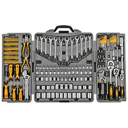 Mechanics Tool Set 205-Piece, Household Tool Kit Set with To