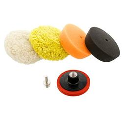 "TCP Global 3"" Mini Buffing and Polishing Pad Kit with 4 Pads"