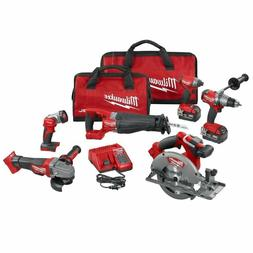 New Milwaukee 2896-26 M18 FUEL Cordless Lithium-Ion 6-Tool C