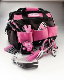 NEW 30 pc Ladies Pink Tool Toolbox Set Kit Household Womens