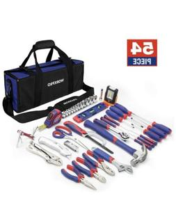 New! WORKPRO 54-Piece Home Repair Hand Tool Set Basic Househ