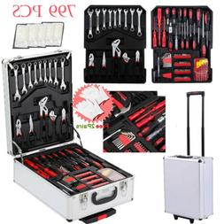 New 799pcs Hand Tool Kit Mechanics Kit Metric Ratchet Wrench