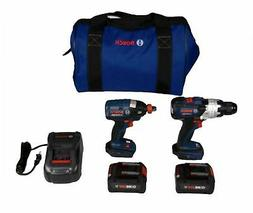 NEW Bosch GXL18V-225B24 18-Volt 2-Tool Hammer Drill and Impa