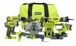 NEW Ryobi P884 One+Plus18V BatteryLithium Ion Ultimate Combo