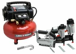 New PORTER-CABLE PCFP12234 3-Tool Compressor Combo Kit