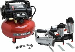 New PORTER-CABLE PCFP12234 Air Compressor 3 Tool Combo Kit 6