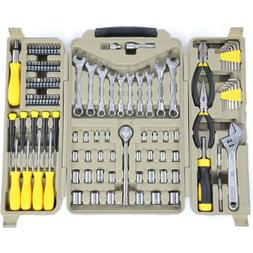 New Stanley STMT71654 Mechanics Tool Set Combo Kit  With Ca