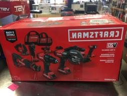 NEW craftsman V20 8- Tool Lithium Ion Cordless Combo Kit