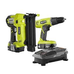 Ryobi ONE+ 18-Volt Lithium-Ion Cordless Drill/Driver and Bra